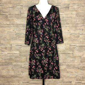 Max Cocos black and pink floral dress
